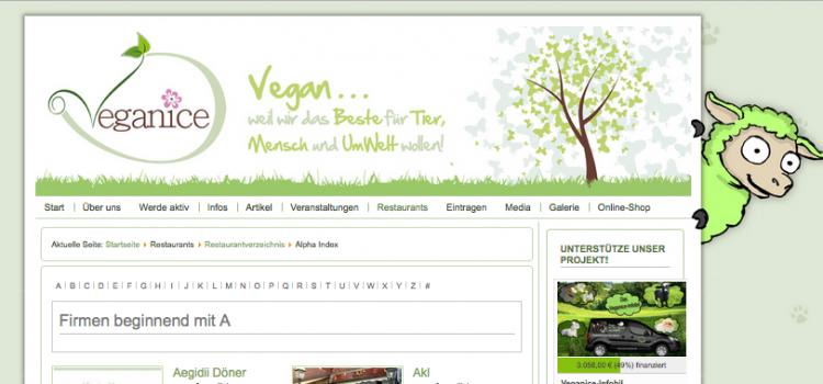 Wir unterstützen Veganice