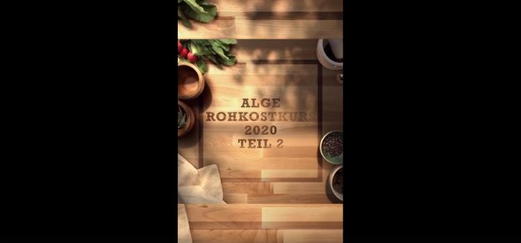 Kochkurs Teil 2 raw food, Juni 2020, für neue Alge-Betreiber