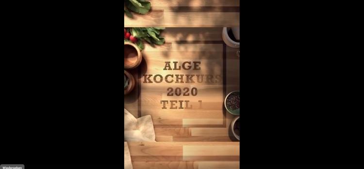 Kochkurs Teil 1 vegan, Juni 2020, für neue Alge-Betreiber